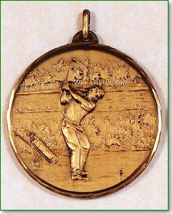 Male Golfer Medal
