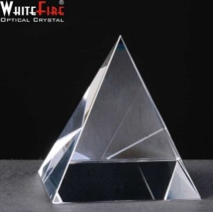 Whitefire Pyramid Crystal Awards Supplied In Velvet Lined Presentation Case. Price Includes Engraving.