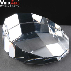Whitefire Sliced Dodecahedron Engraved Crystal Paperweights Supplied In A Velvet Lined Presentation Case. Price Includes Engraving.
