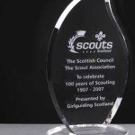 Whitefire Glen Esk Crystal Awards Supplied In A Velvet Lined Presentation Case. Price Includes Engraving.