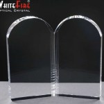 Whitefire Open Book Crystal  Awards Supplied In A Velvet Lined Presentation Case. Price Includes Engraving.
