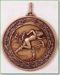 Female Athletics Medal - 50mm