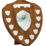 Beech Coloured Wooden Annual Shields With Silver Trims 1