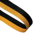 Black / Yellow Woven Medal Ribbons With Clip 1