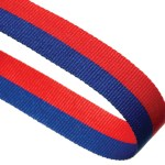 Blue / Red Woven Medal Ribbons With Clip  1