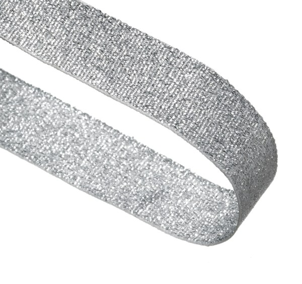 Silver Glitter Woven Medal Ribbons With Clip