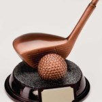 Resin Golf Trophies In Bronze Coloured Finish