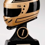 Resin Motor Sport Trophies In Antique Gold And Black Coloured Finish 1