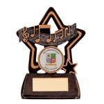Resin Music Trophies In Antique Gold And Black Coloured Finish 1