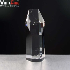 Whitefire Elgin Column Crystal Awards Supplied In A Velvet Lined Presentation Case. Price Includes Engraving.