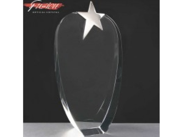 Fusion Crystal Awards With Chrome Star Supplied In Velvet Lined Presentation Case. Price Includes Engraving.