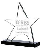 Star Shaped Crystal Awards Supplied In Presentation Box. Price Includes Engraving.