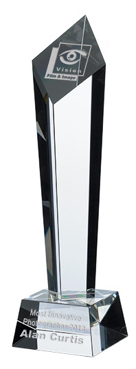 Column Crystal Awards Supplied In Presentation Box. Price Includes Engraving