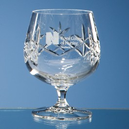 Earle Crystal Brandy Glass With Panel For Engraving