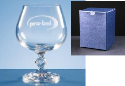 Claudia Brandy Glass In Blue Cardboard Box