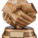 Resin Handshake Trophies