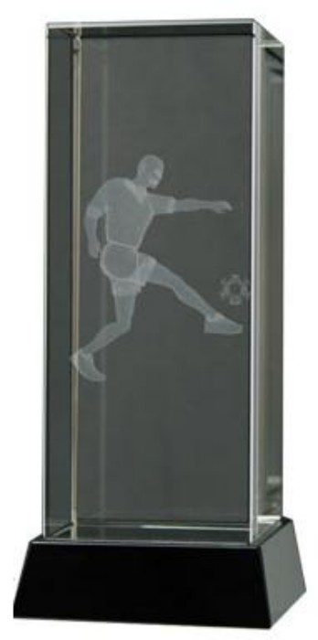 Football Trophies With Engraved 3D Players