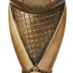 Resin Football Trophies in Antique Gold Coloured Finish 1