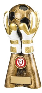 Resin Goalkeeper Trophies In Antique Gold Coloured Finish