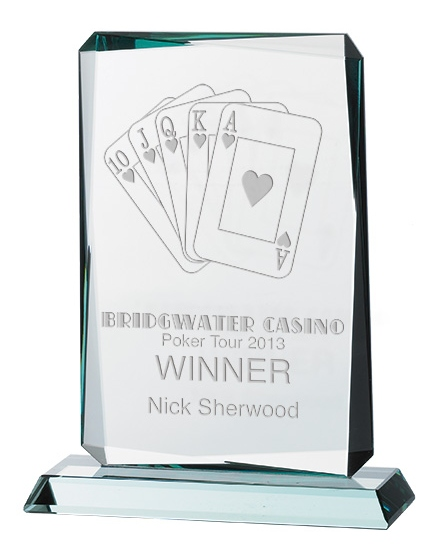 Rectangle Shaped Jade Glass Awards Supplied In Presentation Box. Price Includes Engraving