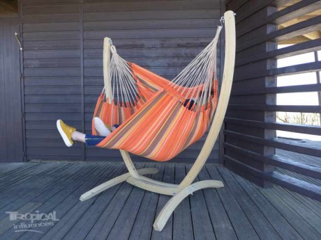 chaise hamac avec support arawake xl