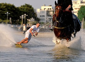 Horse surfing and kite boarding add a new level of excitement to equestrian pursuits.