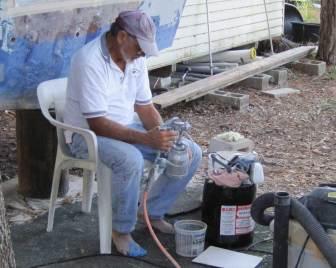 Cleaning Gelcoat Sprayer