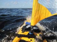 Sailing the Edge of Hurricane Irene in Hobie Adventure Island