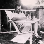 Ernest Hemingway enjoying his Finca la Vigia in Cuba