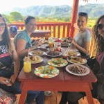 enjoying the cuban food by traditional restaurant Corazon del Valle by tropicalcubanholiday.com