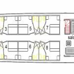Luxury Yacht Avalon II - plan