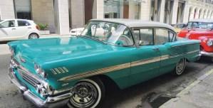 Chevrolet 1958 bel-air oldtimer taxi Transfer-Transport Service Cuba