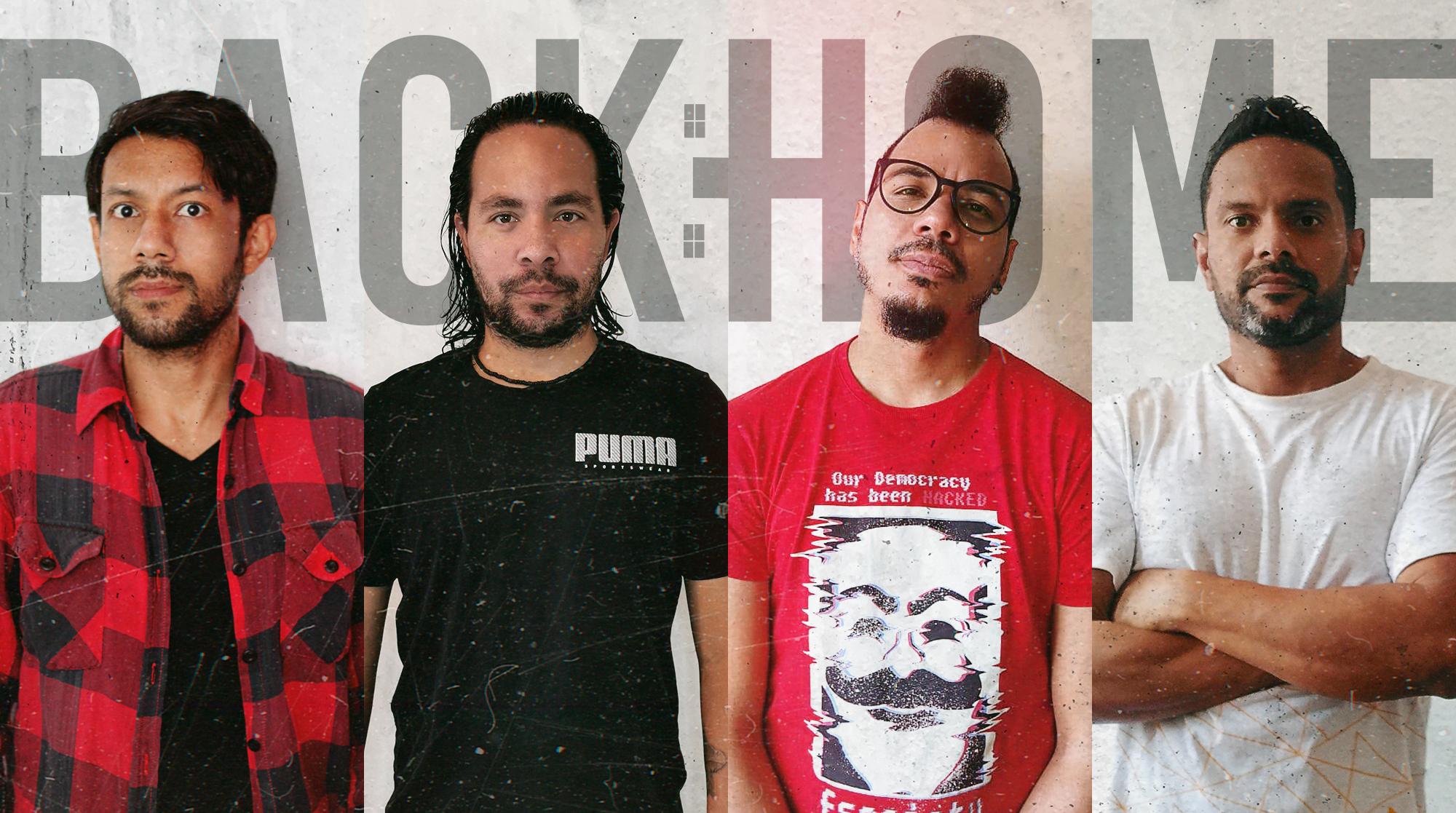 BACKHOME, banda de pop punk de Venezuela con miembros alrededor de Latinoamérica