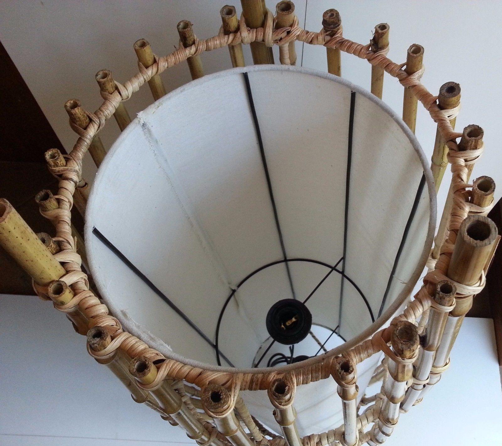 BALI RATTAN WOVEN BAMBOO DESK TABLE BEDSIDE LAMP LANTERN ...