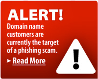 Phishing warning posted on Network Solutions home page
