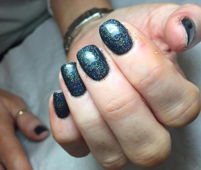 Black Gel Nails Glasgow Shellac Nails Glasgow