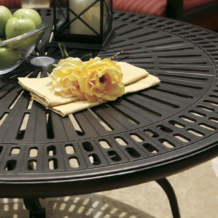 spectrum cast aluminum tables outdoor