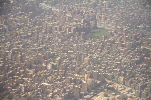 EL CAIRO VISTO DESDE EL AIRE