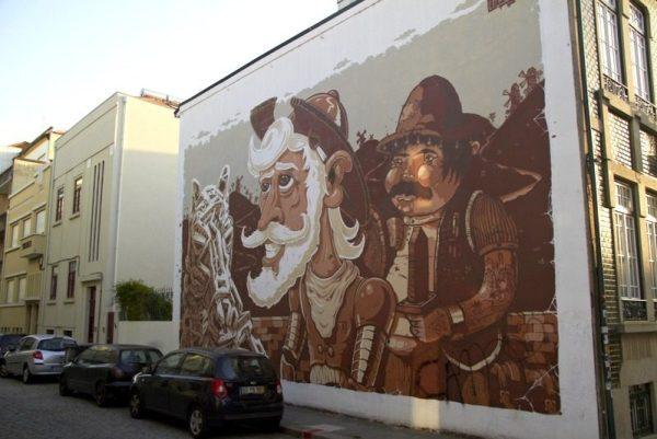 GRAFITI DEL QUIJOTE EN OPORTO