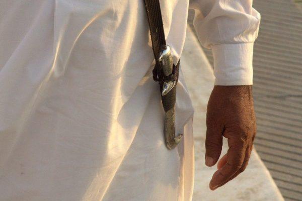 DAGA DE UN SIJ EN EL TEMPLO GURDWARA BANGLA SAHIB EN DELHI