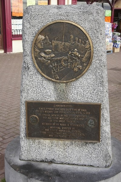 MEMORIAL DEL TITANIC EN COBS, IRLANDA