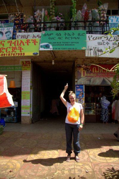 CARTEL DE LA OFICINA DE SELAM BUS EN BAHIR DAR