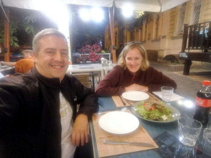 CENANDO EN EL RESTAURANTE KA4KA, ODESSA