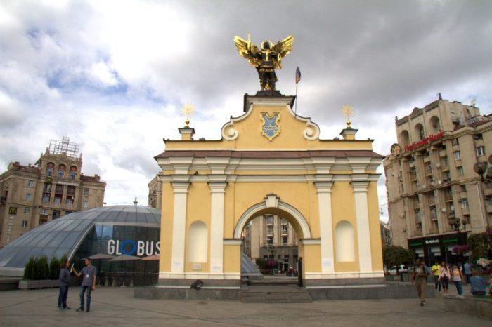 PUNTO DE ENCUENTRO PARA EL FREE TOUR EN LA PLAZA DE LA INDEPENDENCIA, KIEV