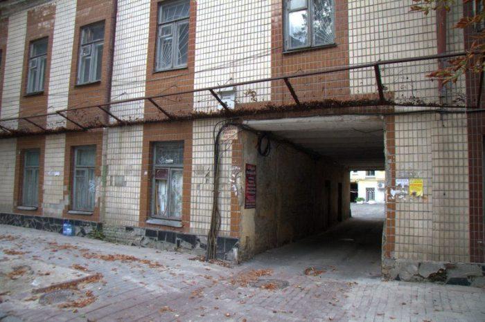ENTRADA AL HOSTEL MUZEYNT EN KIEV