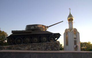 TANQUE SOVIÉTICO JUNTO A LA CAPILLA DE SAINT GEORGE, TIRASPOL
