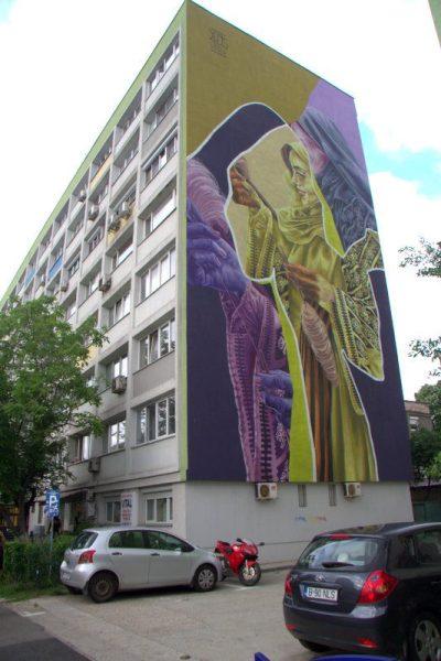 GRAFITI EN UNA FACHADA EN BUCAREST