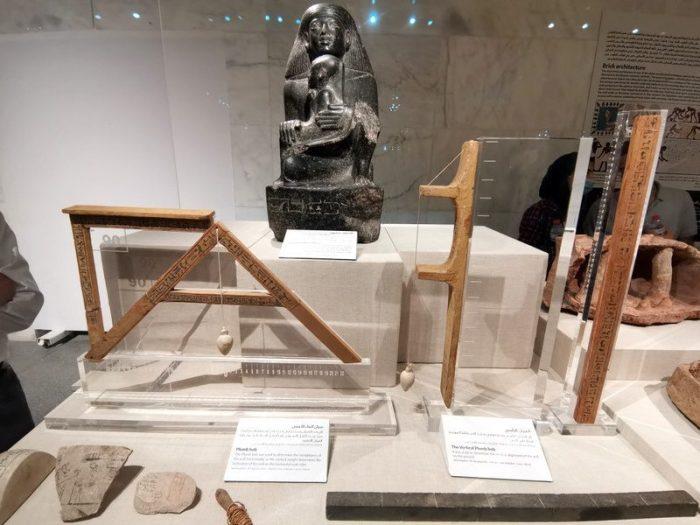 UTENSILIOS DE ARQUITECTURA EN EL MUSEO NMEC EN EL CAIRO