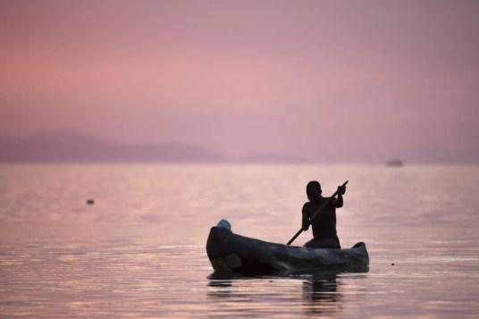Visser bij Lake Malawi