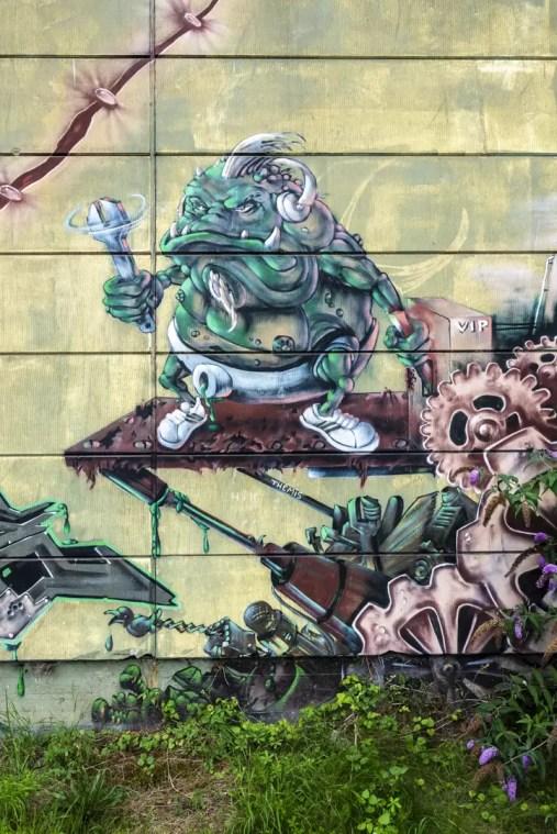 Street Art op een fabriek